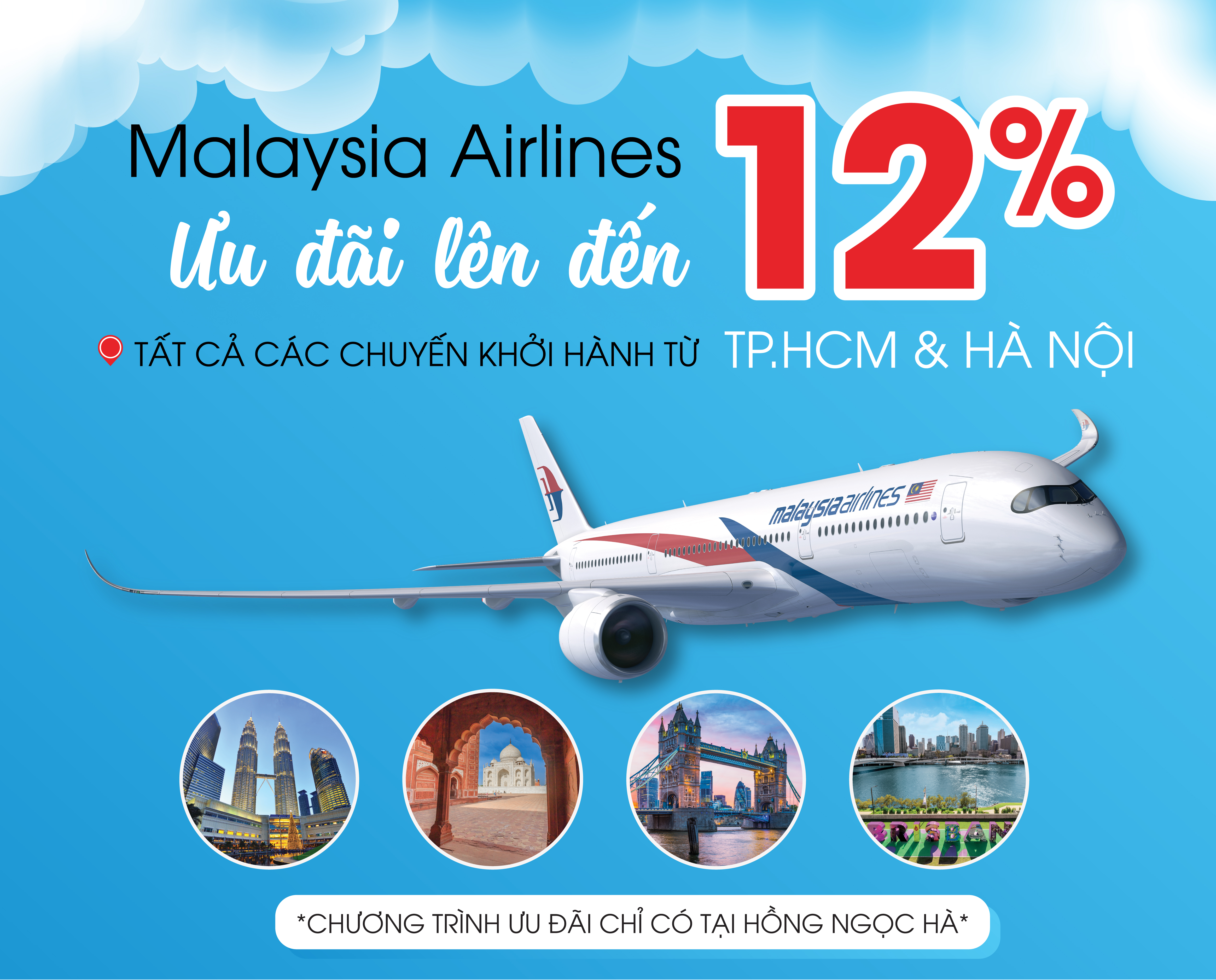 Malaysia Airlines deals up to 12%