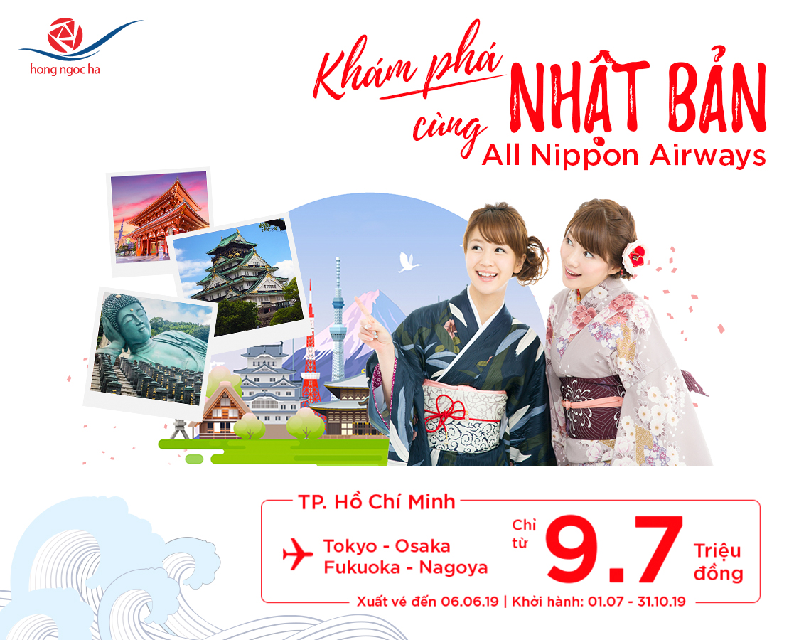 The cost is only 9.5 million – drop station to discover Japan with All Nippon Airwways
