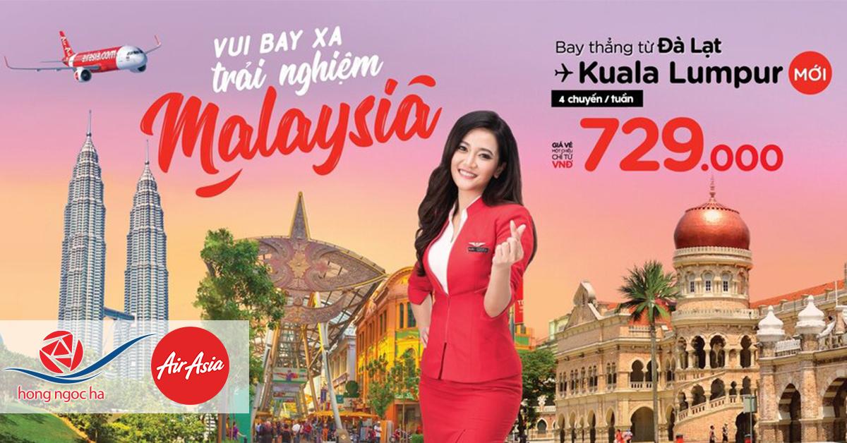 AirAsia - Đà Lạt bay thằng Kuala Lumpur