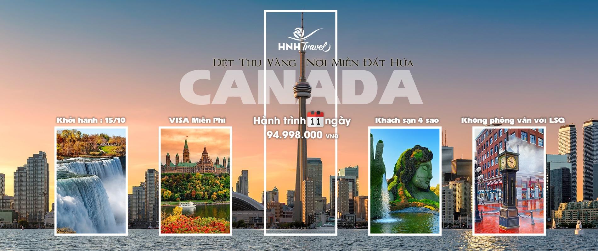Tour Canada đặc biệt - 11 Ngày