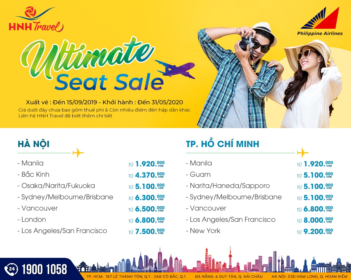 Philippine Airlines - Ultimate seat sale