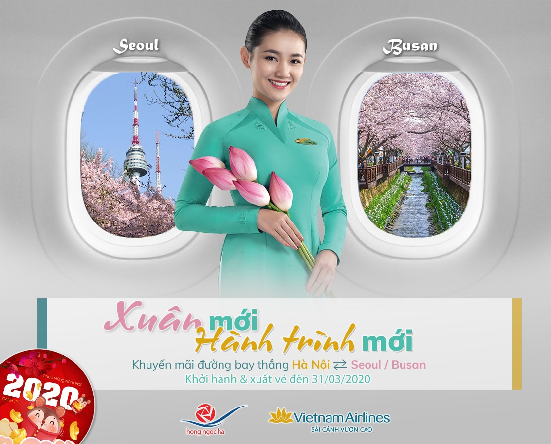 Xuân Mới – Hành Trình Mới | Ưu Đãi Đến Hàn Quốc