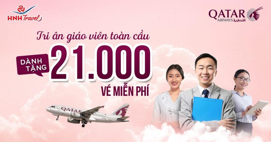 Qatar Airways tri ân đội ngũ giáo viên với 21,000 vé miễn phí