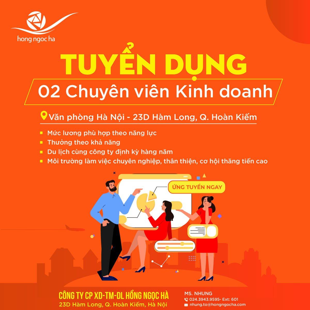 Tuyển dụng nhân sự 04/2021 tại CN Hà Nội